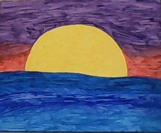 Sunrise Over Water - Ashleys Wonder Works