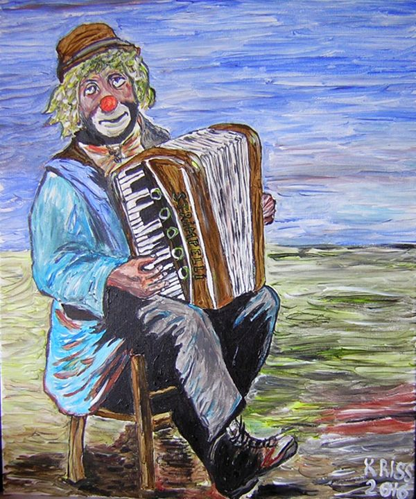 """Clown with Accordion """"Strimpelli"""" - Kriss"""