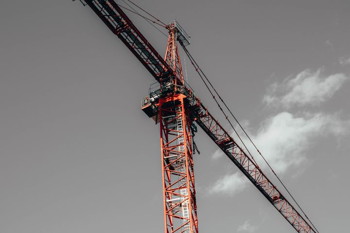 Tower Crane in the City - Griffin Moran Photography
