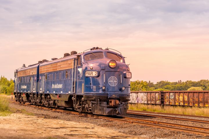 Pan-Am Bluebird Locomotive - Griffin Moran Photography