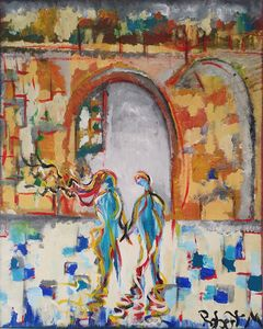 Archway abstract couple