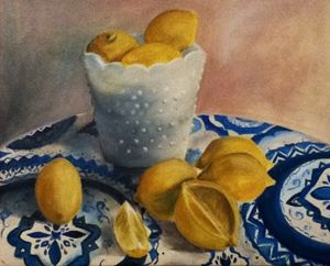 Lemons in afternoon light