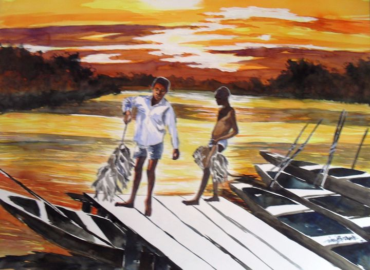Sun Sets after Fishing - INI BROWN