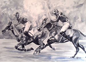 Polo Riders in Monochrome