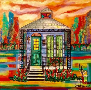 #109 Blue Shotgun House