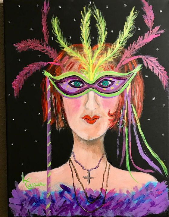 Mardi Gras Lady #1 - Freezingcajun