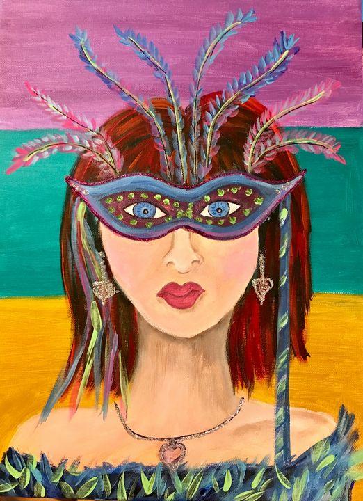 Mardi Gras Lady Angela - Freezingcajun