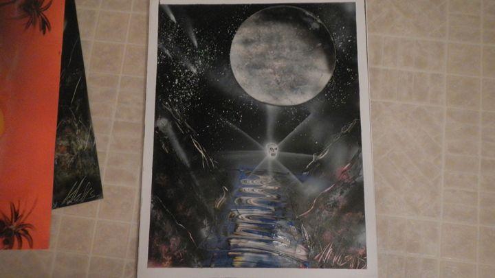 shull orb under moon lit sky - Michael wells