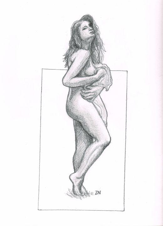Nude standing - Zach Nebenzahl