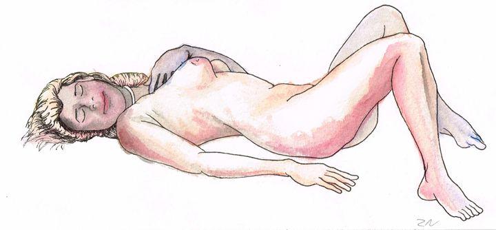 Lying nude - Zach Nebenzahl