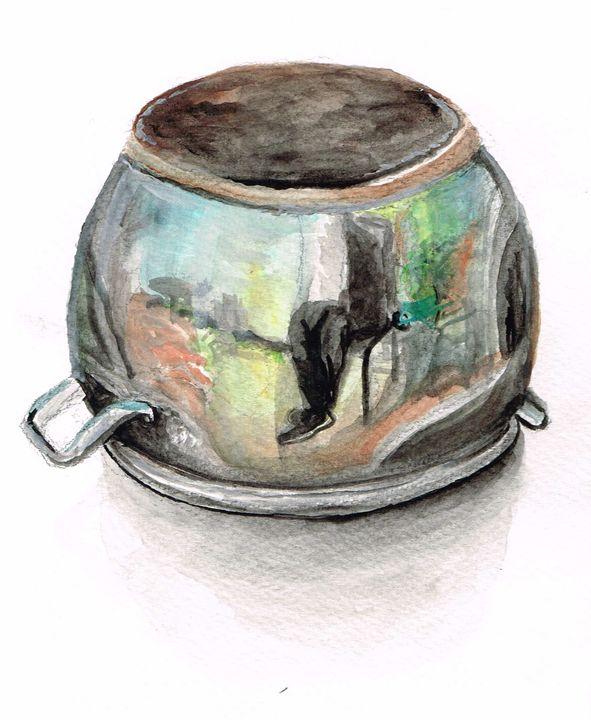 Pot reflection - Zach Nebenzahl