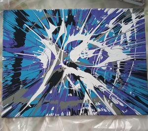 12x16 Canvas Spin Art - Delirium