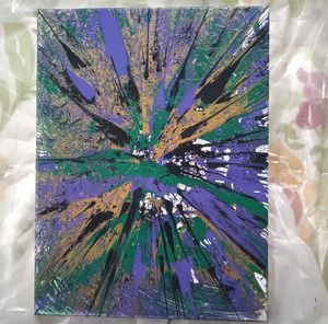 Conflict - Acrylic Spin Art 12*16