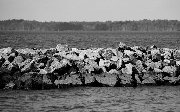 Rock Formation on the River - Angela Ronk 24k FX Design