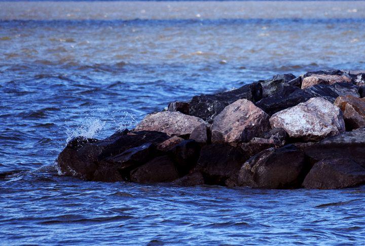 River Rocks Making a Splash - Angela Ronk 24k FX Design