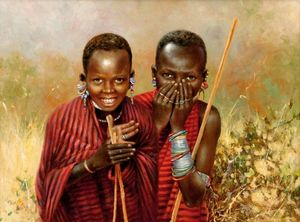 masai boys drawing