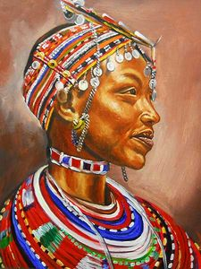 Masai colour painting wear