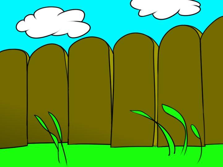 Fence and Grass - DARKCITY TOONS