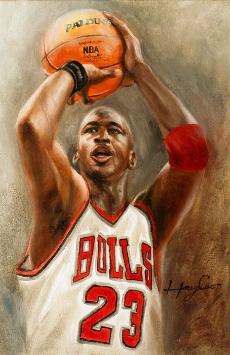 Michael Jordan NBA Basketball Player - Henry Cao Gallery