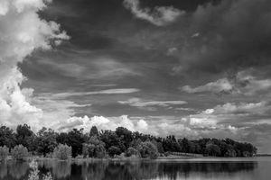 Wispy Clouds in A Gray Sky
