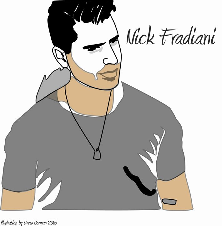 Nick Fradiani Digital Illustration - The Art of Drew Norman