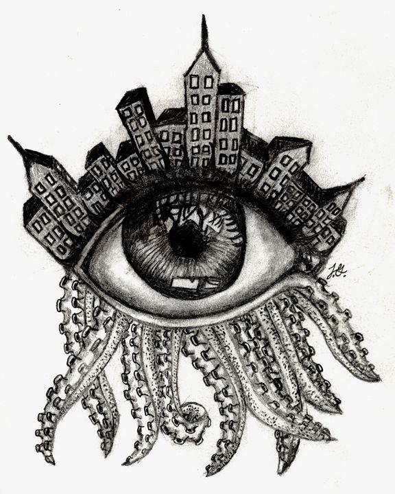 Abstract Eye Jackson Gilvar Drawings Illustration