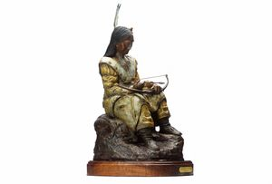 Sioux Warrior with bow and arrows