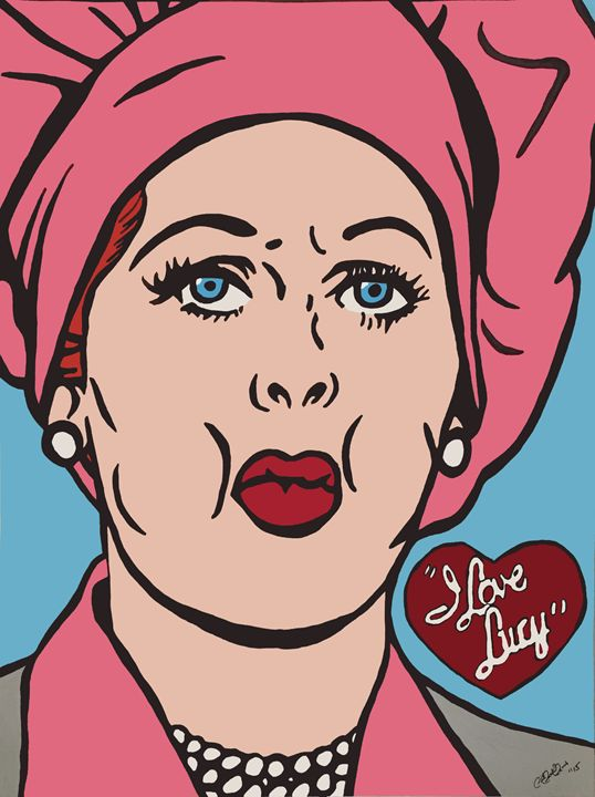 """Lucille Ball """"I Love Lucy"""" - Derrick Reeves #HypeArt"""