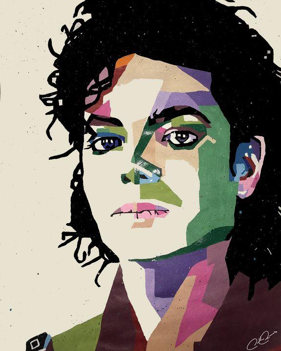 Michael Jackson Pop Art - Derrick Reeves #HypeArt