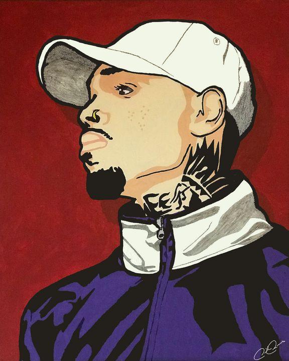 Chris Brown Pop Art Painting - Derrick Reeves #HypeArt