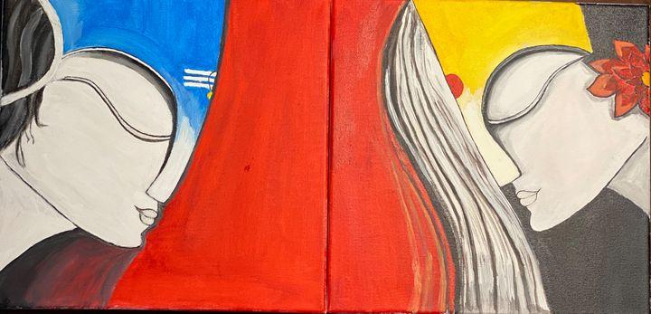 Indian Acrylic Paint 8 X 8 size 2 pc - Sridevi Arts