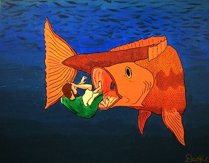 Jonah in the Deep - Artwork by David Hannah