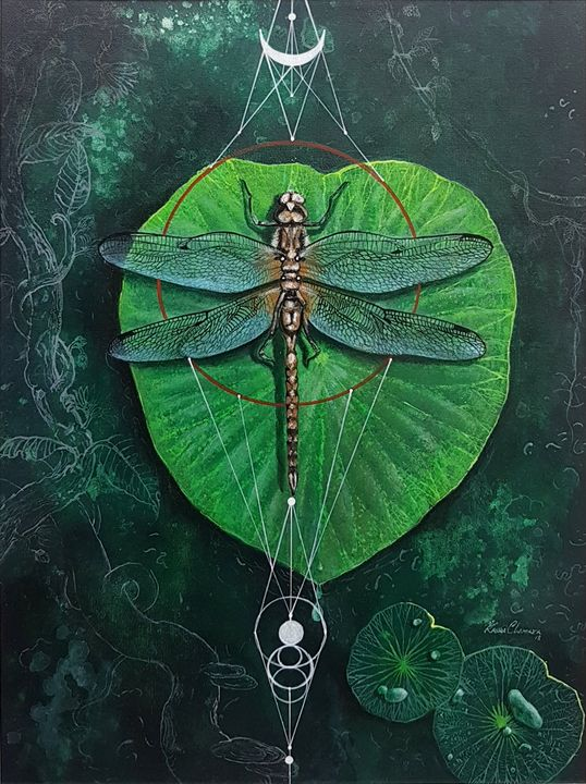 Firefly on a Lotus Leaf - Aartzy - Let's Talk Expressions