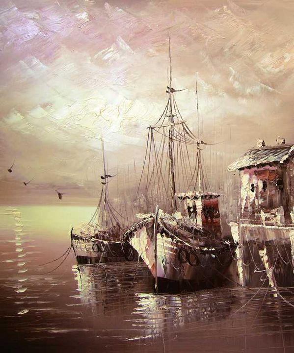 Boats at the Dockyard - Aartzy - Let's Talk Expressions
