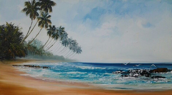 Palm Fringed Beach - Aartzy - Let's Talk Expressions