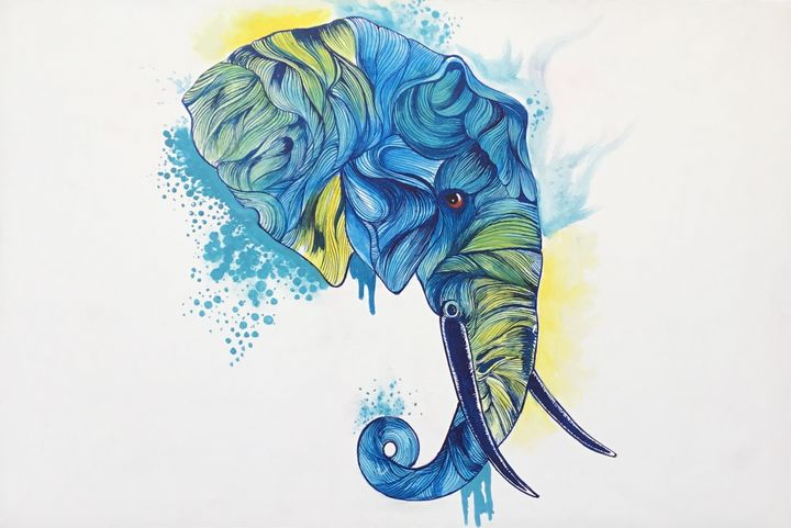 Tusker in Blue - Aartzy - Let's Talk Expressions