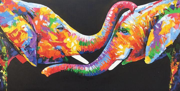 Embracing Elephants - Aartzy - Let's Talk Expressions