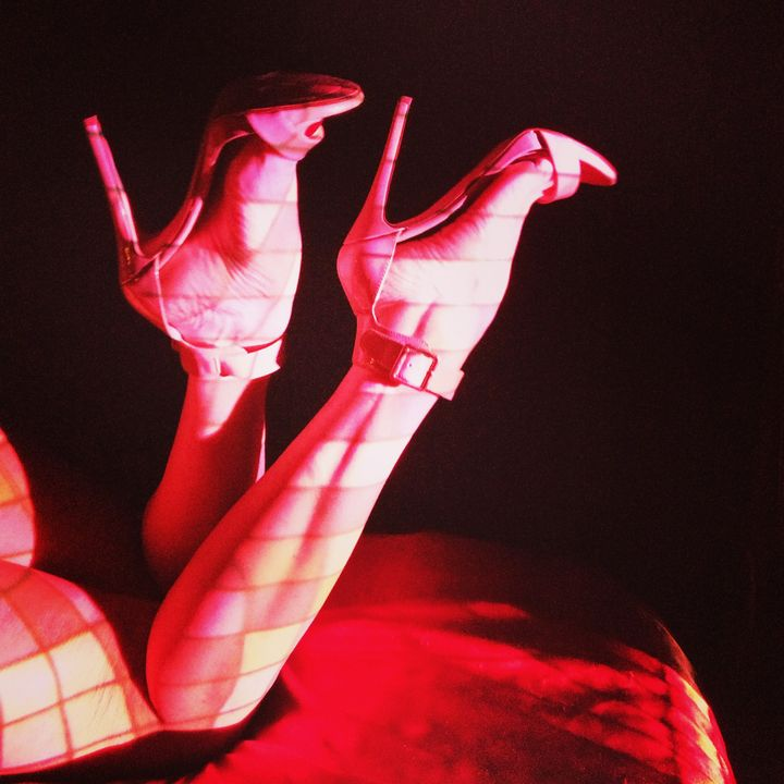 Woman Legs Light Projection - CYNVision Art and Photography