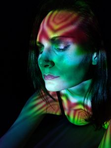 Light Projection Woman 3