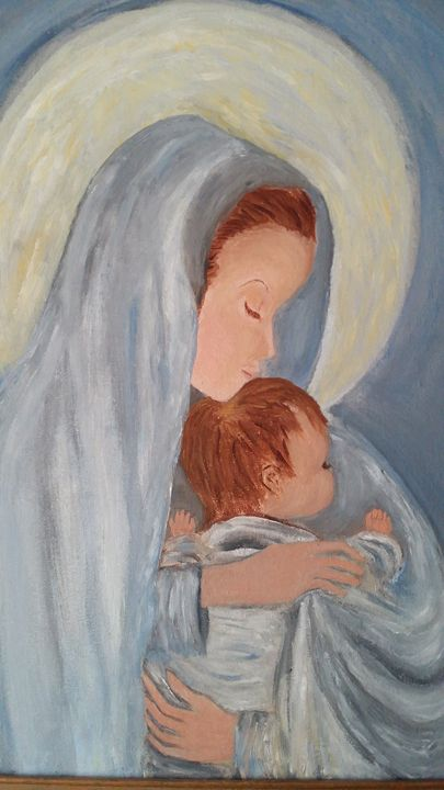 Mary and Baby Jesus - Catherine & Marks Art