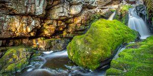 Rushing Creek At Dusk