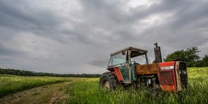 Retired Tractor Before A storm