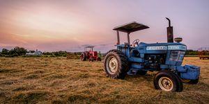 Tractors Resting at Dusk