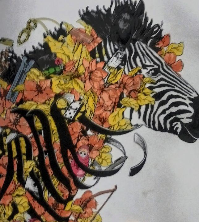 Zebra - Rebecca Loker self colored coloring pages