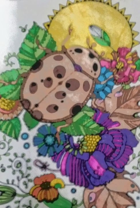 Beetles - Rebecca Loker self colored coloring pages
