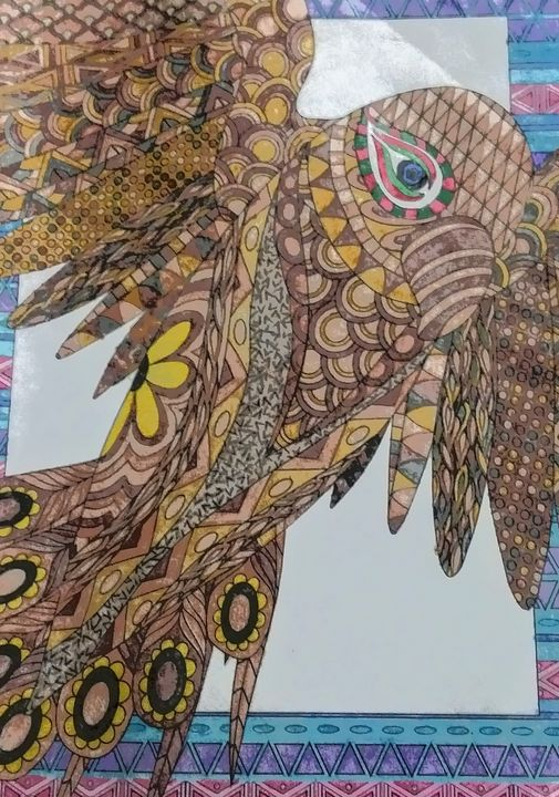 Birds - Rebecca Loker self colored coloring pages
