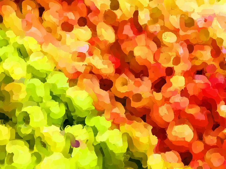 Summertime Garden Apples - Paintings and prints