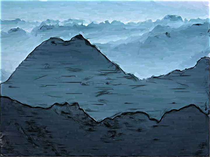 First there is a mountain - Paintings and prints
