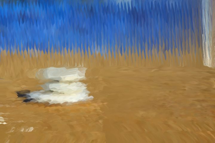Blues Beach - Paintings and prints