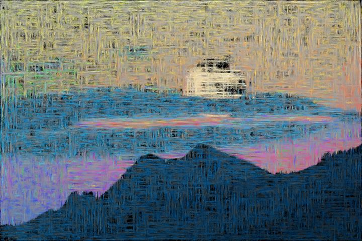 When the moon comes over the mountai - Paintings and prints